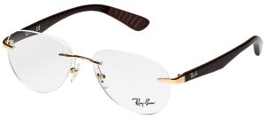 c5b486413d89 Ray-ban Rimless Gold Unisex Optical Frames - Rx6368i-2500-52-52-15-140