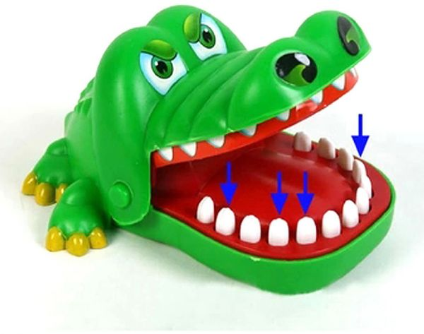 Large Fun Toys Crocodile Dentist Bite Finger Game Funny Novetly Crocodile  Toy for Kids Gift  a3d70e2a19