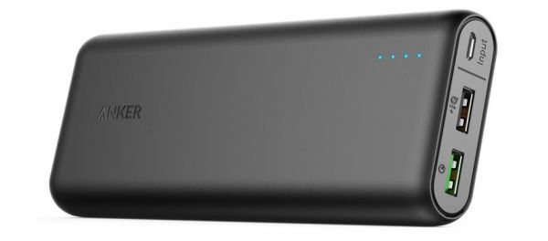 samsung portable charger. anker 20000mah portable charger powercore 20000 with quick charage 3.0- ultra high capacity power bank 4.8a output, poweriq technology for iphone, samsung t