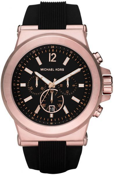 838c5a148012 Michael Kors Dylan Watch for Men - Analog Silicone Band - MK8184