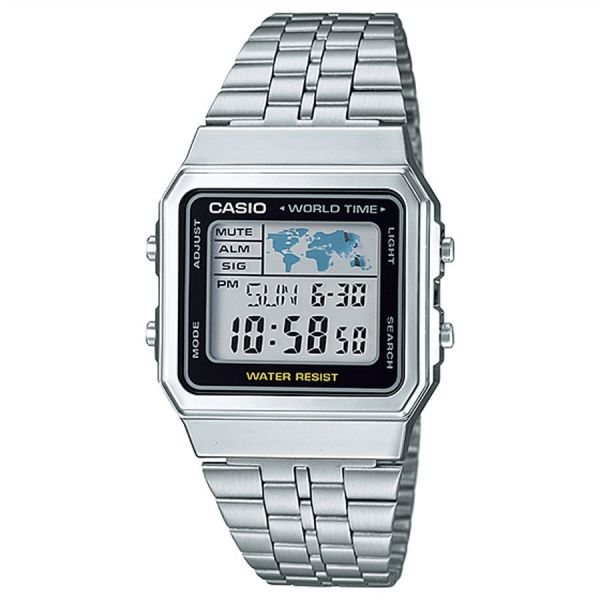 4f06f0aca66 Casio Standard for Women - Digital Stainless Steel Band Watch - A500WA-1
