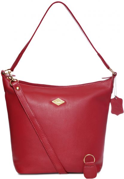 Red Hobo Bag For Women Leather