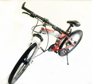 26 Inch Bmw X6 Mountain Bike Suspension Folding Bicycles White Red