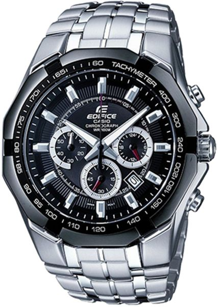 Casio Edifice Men's Black Dial Stainless Steel Band Watch - EF-540D-1AVDF