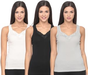 3b1b379fd4d72 Mark-on Multi Color Cotton Camisole   Chemis