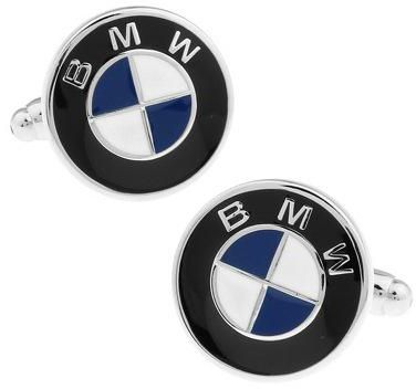 Men Copper Silver Car Bmw Logo Cuff Links Wedding Party Gift Cufflinks