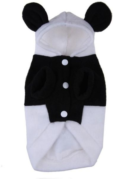 Fancy Pawss Dress Clothes Panda Costume Hoodie For Small Dog Puppy Cat Fancy Pawss