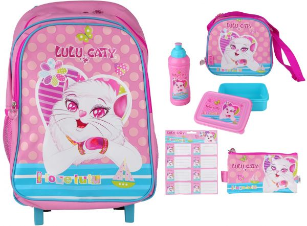 School Trolley Backpack For Girls by Lulu Caty Pink review and