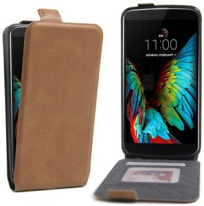 LG K10 all directional protective clamshell mobile phone cover-brown