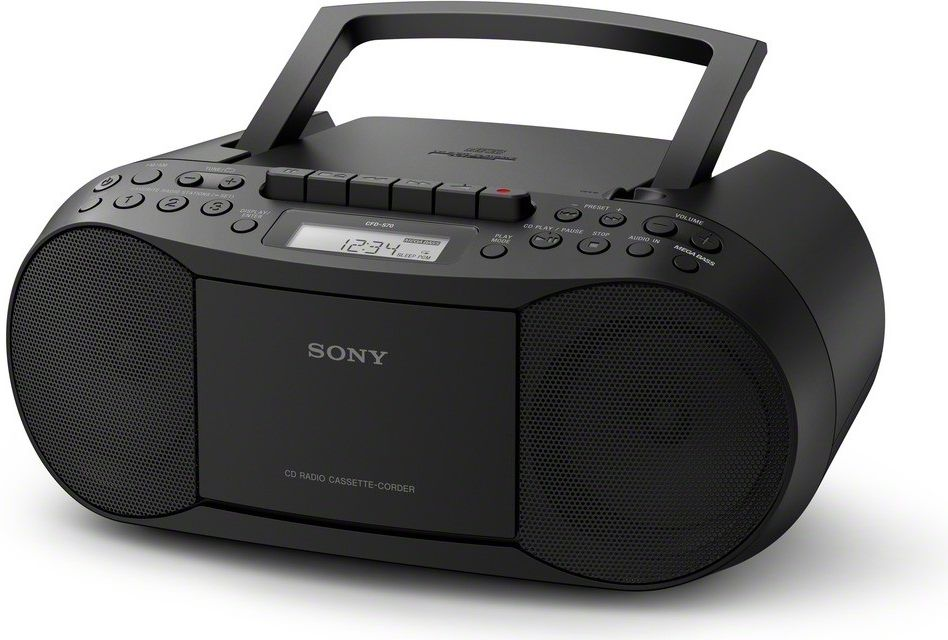 Sony CFD-S70 Classic CD and Tape Boombox with Radio