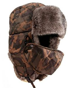 518dcb2758d Brown Polyester Trapper Hat For Unisex