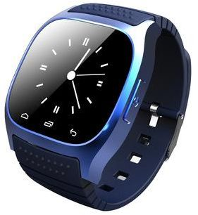 Touch Screen Smart Watch for iOS and Android with Pedometer, 1.4 inch Screen - Blue