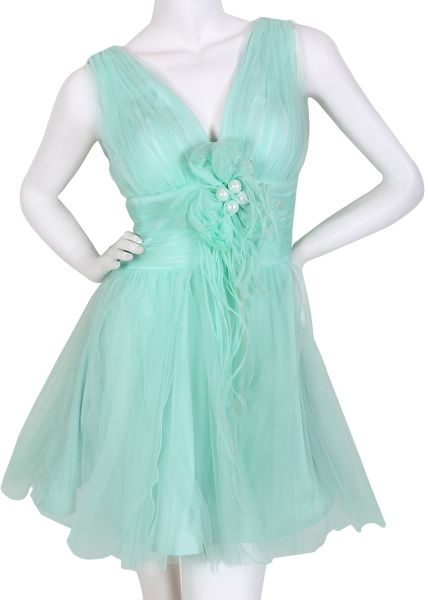 a3ff0d74a4f Tube Turquoise Mixed Casual Dress For Women