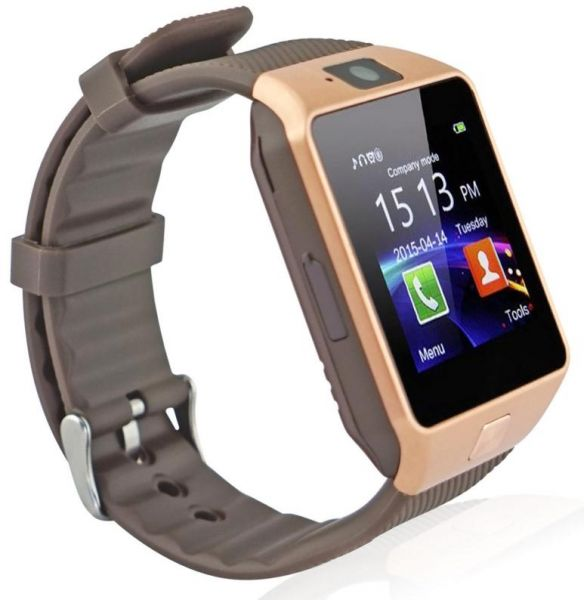 Fantime SW07 Smart Phone Watch with SIM Card and Memory Pedometer, Anti-loss, Camera- Gold | Souq - UAE