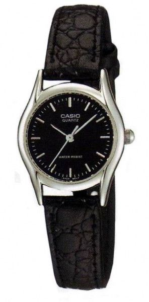 f376cb280d1 Casio Women s Black Dial Leather Band Watch - LTP-1094E-1A
