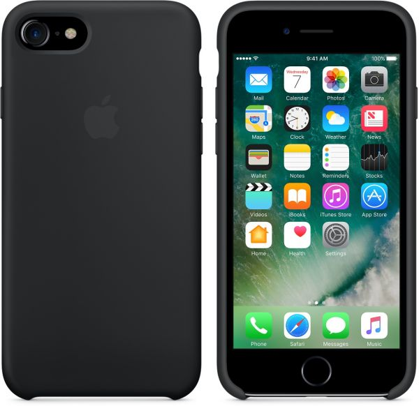 finest selection 41cac 5d577 Apple iPhone 7 Silicon Back Cover Case, Black, MMW82ZMA (Apple Phone not  included)