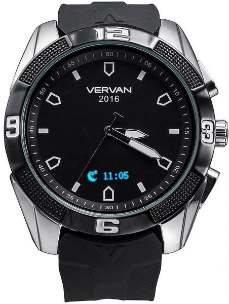 Vervan V8 Bluetooth Dual Display Smart Watch with Fitness Tracker for iOS  Android