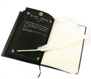Death Note notebook Yagami Light cosplay notebook and quill-pen