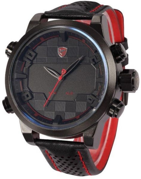 d6a134901 Shark Black and Red LED Date Day Quartz Sport Watch for Men | Souq - Egypt
