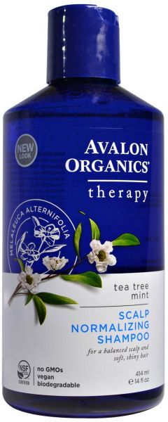 Avalon Organics Scalp Normalizing Shampoo Tea Tree Mint Therapy 14 Fl Oz 414 Ml