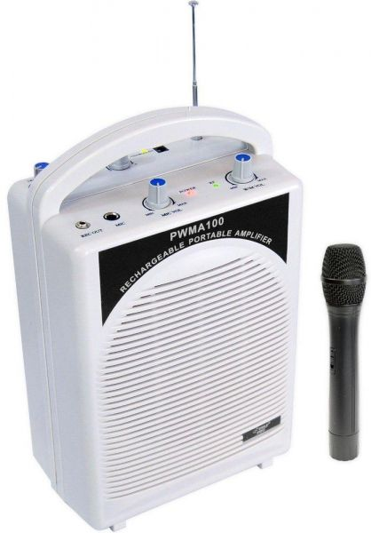SH-2222U Rechargeable Portable PA System with Wireless MIC  15f91dc909bd4