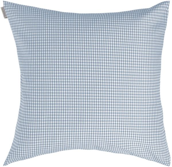Indes Fuggerhaus Charlie Checkered Decorative Cushion Cover Jeans