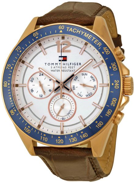 3c5b794d Tommy Hilfiger Men's Silver Dial Leather Band Watch - 1791118 | KSA | Souq