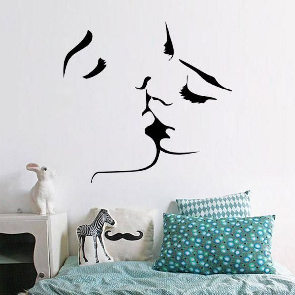 Fashion Personality Lovers kiss 3D Wall Sticker Home Decor Family Wall Decal Lovers Bedroom Living Room Wallpaper  sc 1 st  Souq.com & Souq | Fashion Personality Lovers kiss 3D Wall Sticker Home Decor ...
