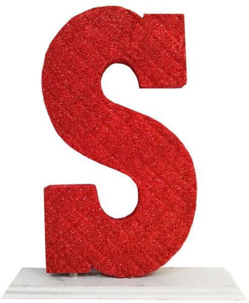 Decoration Letter S Red Souq Uae