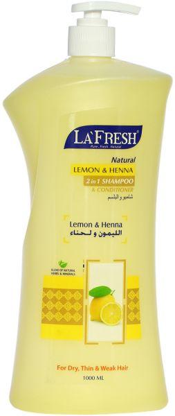 La Fresh Lemon And Henna 2 In 1 Shampoo And Conditioner 1000 Ml