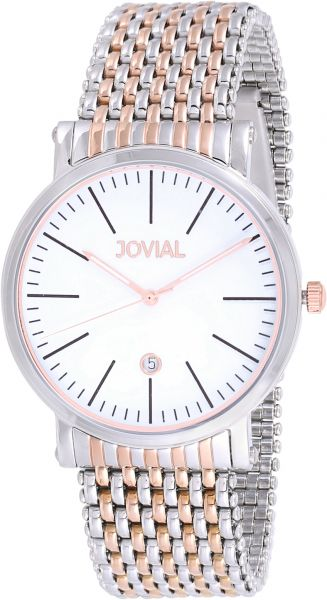 fc62c3206 Jovial Men's White Dial Stainless Steel Band Watch - 5111 GAMQ 01 E