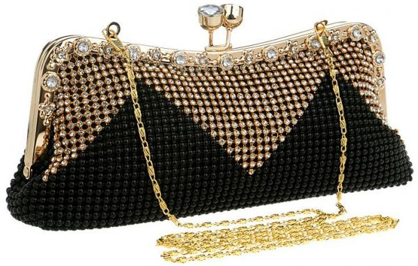 39f6ce53a2eb Fashion Luxury Ladies Clutch Bag Evening Bag Classic Chain Single Shoulder  Bags - Black