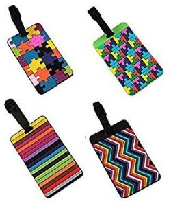 5f751183be20 Set Of 4 Lovely Secure Luggage Tags PVC Suitcase luggage tags Travel ID Bag  Tag