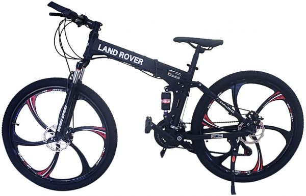Land Rover 26 inch Alloy Wheels Foldable Bicycle - FS-073126, Black ...