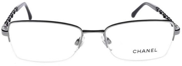 c696303e6d Chanel Mod 2167-Q Col 108 (Gun) Size 54 Women Half Rimless Optical Frames  Made in Italy. by Chanel