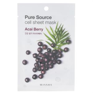 Missha Pure Source Cell Sheet Mask - Acai Berry, 21g