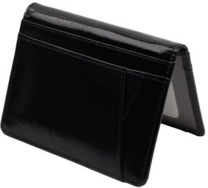 Landrind W5004 Thin Card Holder for Women - Leather, Black