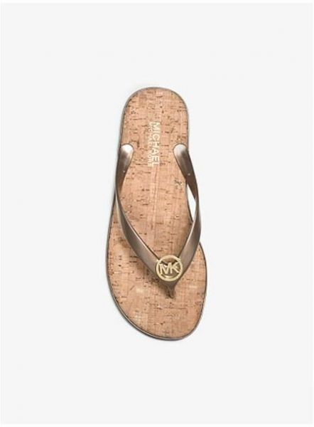 fbd73a53dc698 Michael Kors Brown Flip Flops Slipper For Women