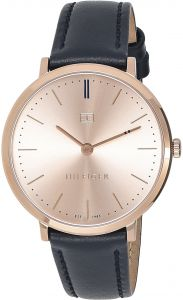 Tommy Hilfiger Women s Rose Gold Dial Leather Band Watch - 1781693 d58b1c1f0c5