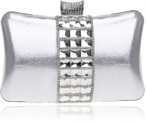 d40122aa12b8 Fashion Luxury Ladies Diamond Clutch Bag Women Fine Chain Evening Bag -  Silver