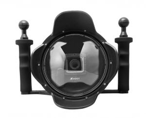 6'' inch Diving Lens Hood Dome Port for Gopro Hero 3+ 4 With Go pro Heightening Waterproof Housing Case LCD Screen Suit