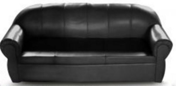 3 Seater Sofa With Pvc Leather Finish