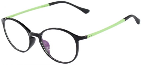 9900ea24c6 Feather Round Shaped Eye Frame For Women Black And Yellow