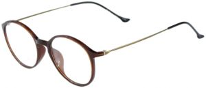 4ce1e6694eda Feather Oval Eye Glasses For Women Red With Goldy