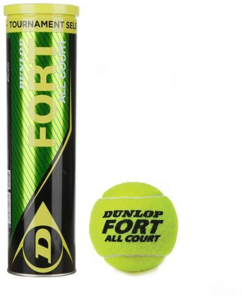 Dunlop Fort All Court Tennis Balls Set Of 3 Piece 601234 Per Can