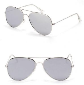 4b8d46fccc Unisex Aviator Mirror Lens Sunglasses for Women and Men Summer style Metal  Frame - Grey   Silver