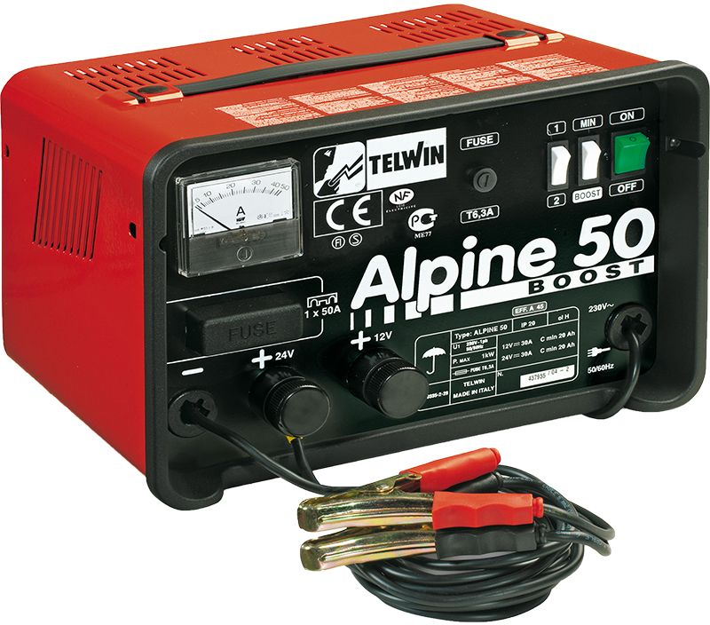 Telwin Alpine 50 Boost 230V 12/24V 30A Battery Charger