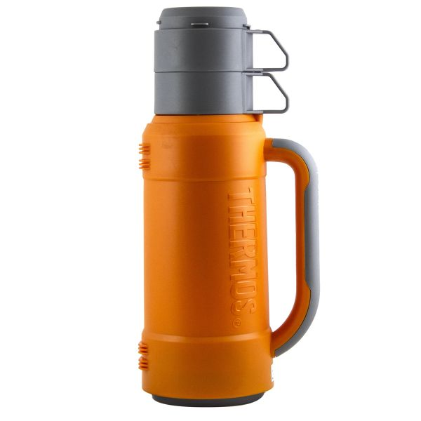 Thermos Champion 888-100 Steel and Glass 1 Litre Vacuum Flask, Orange
