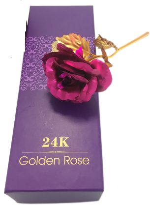 Gold Rose Flower Valentine S Day Gift With Gift Box Pink Souq Uae