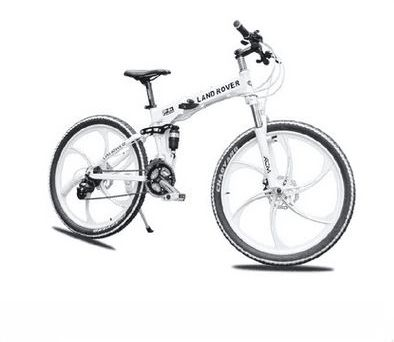 26 inch land rover mountain bike suspension folding bicycles white ...